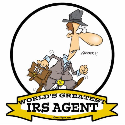 WORLDS GREATEST IRS AGENT CARTOON ACRYLIC CUT OUTS