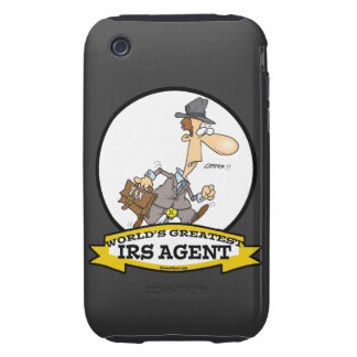 WORLDS GREATEST IRS AGENT CARTOON iPhone 3 TOUGH CASES