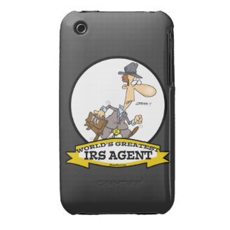 WORLDS GREATEST IRS AGENT CARTOON iPhone 3 Case-Mate CASES