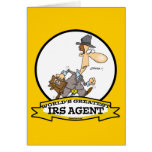 WORLDS GREATEST IRS AGENT CARTOON GREETING CARD