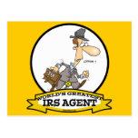 WORLDS GREATEST IRS AGENT CARTOON POSTCARD