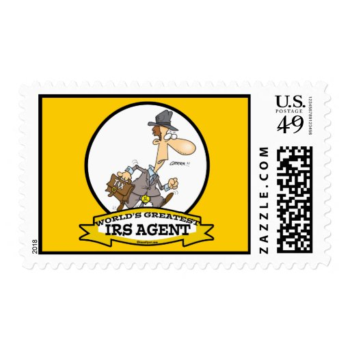 WORLDS GREATEST IRS AGENT CARTOON STAMPS