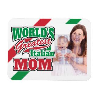 World's Greatest Italian Mom Personalized Photo Rectangular Photo Magnet