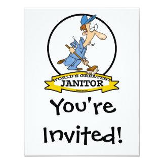 WORLDS GREATEST JANITOR CARTOON CARD