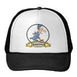 WORLDS GREATEST JANITOR CARTOON HATS