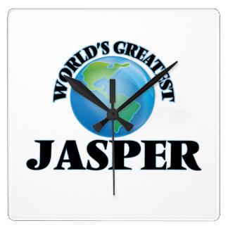 World's Greatest Jasper Square Wall Clocks