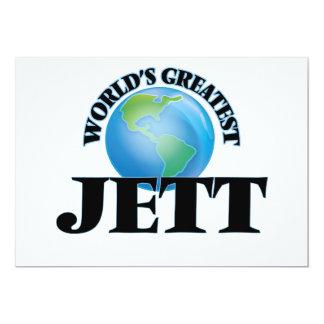 World's Greatest Jett 5x7 Paper Invitation Card