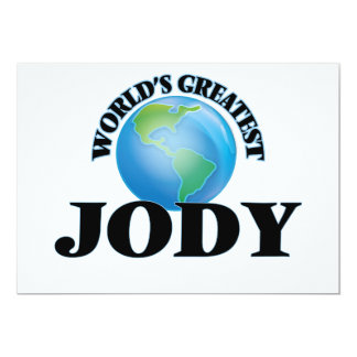 World's Greatest Jody Invitations