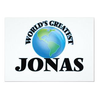 World's Greatest Jonas 5x7 Paper Invitation Card