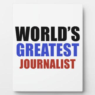 World's greatest JOURNALIST Plaque