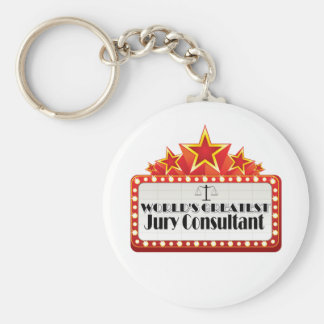World's Greatest Jury Consultant Basic Round Button Keychain
