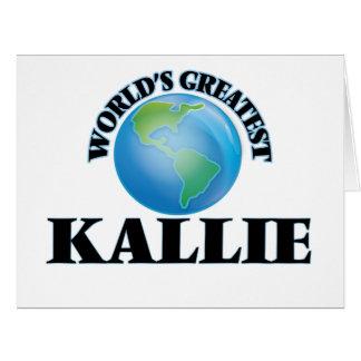 World's Greatest Kallie Large Greeting Card