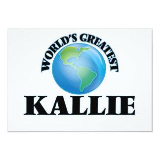 World's Greatest Kallie 5x7 Paper Invitation Card