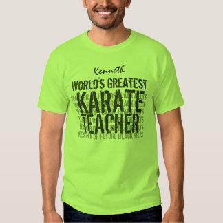 World's Greatest Karate Teacher Custom Name Green Shirts