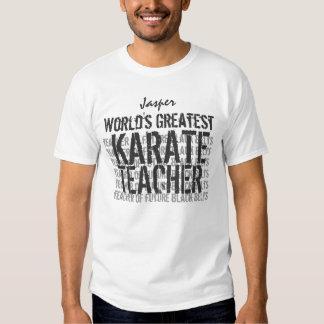 World's Greatest Karate Teacher Custom Name White Tee Shirt