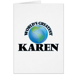 World's Greatest Karen Greeting Card