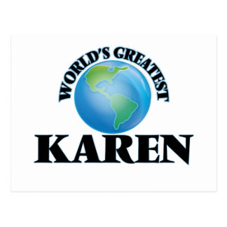World's Greatest Karen Postcard