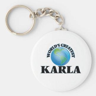 World's Greatest Karla Keychain