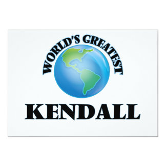 World's Greatest Kendall Announcements