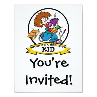 WORLDS GREATEST KID CARTOON 4.25X5.5 PAPER INVITATION CARD