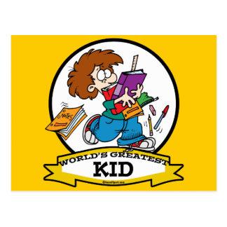 WORLDS GREATEST KID CARTOON POSTCARD