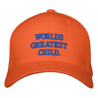 WORLDS GREATEST KID EMBROIDERED BASEBALL CAP