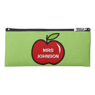 World's Greatest Kindergarten teacher red apple Pencil Case