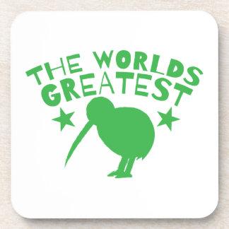 World's GREATEST KIWI (New Zealand funny) Beverage Coasters