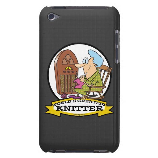 WORLDS GREATEST KNITTER CARTOON BARELY THERE iPod COVER