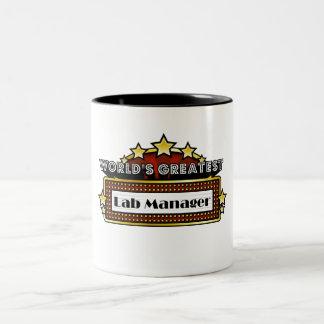 World's Greatest Lab Manager Two-Tone Coffee Mug