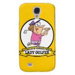 WORLDS GREATEST LADY GOLFER CARTOON GALAXY S4 CASE
