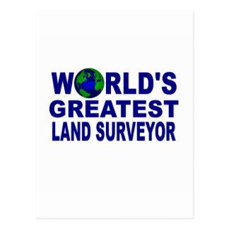 World's Greatest Land Surveyor Postcard