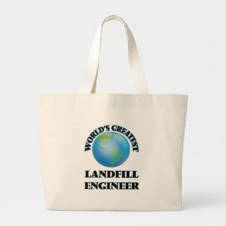 World's Greatest Landfill Engineer Canvas Bag