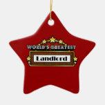 World's Greatest Landlord Christmas Tree Ornament