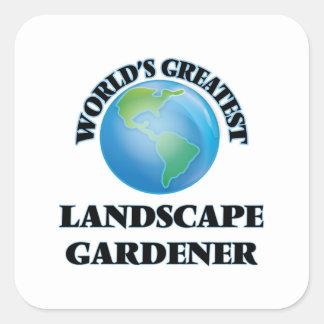 World's Greatest Landscape Gardener Square Sticker