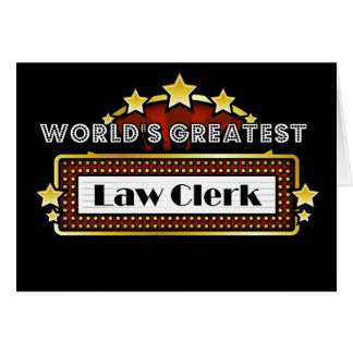 World's Greatest Law Clerk Card