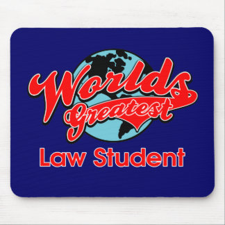 World's Greatest Law Student Mouse Pad