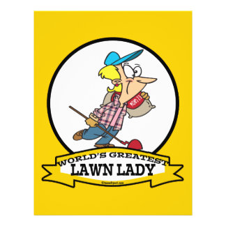 WORLDS GREATEST LAWN LADY CARTOON FLYER