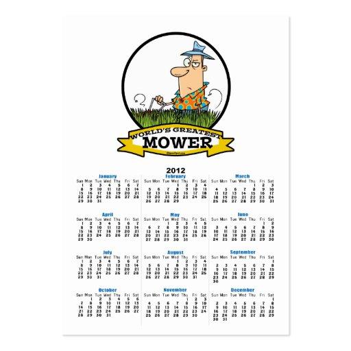 WORLDS GREATEST LAWN MOWER MEN CARTOON BUSINESS CARD