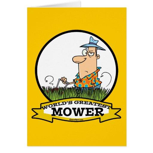WORLDS GREATEST LAWN MOWER MEN CARTOON CARD