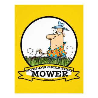 WORLDS GREATEST LAWN MOWER MEN CARTOON FLYER