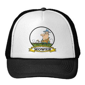 WORLDS GREATEST LAWN MOWER MEN CARTOON TRUCKER HAT