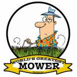 WORLDS GREATEST LAWN MOWER MEN CARTOON PHOTO CUTOUT