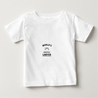 World's greatest lawyer baby T-Shirt