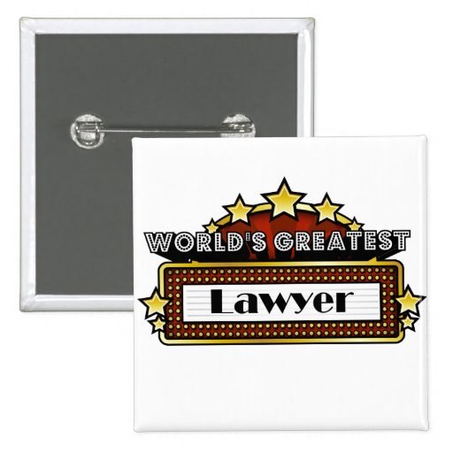 World's Greatest Lawyer Pinback Button