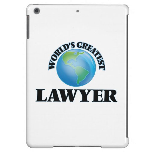 World's Greatest Lawyer iPad Air Case