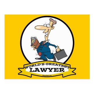 WORLDS GREATEST LAWYER II MEN CARTOON POSTCARD