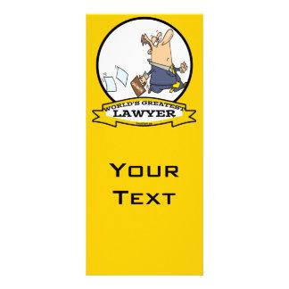 WORLDS GREATEST LAWYER III CARTOON RACK CARD