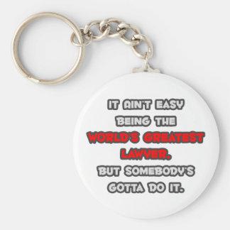 World's Greatest Lawyer Joke Basic Round Button Keychain