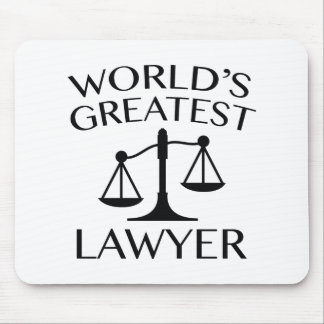 World's Greatest Lawyer Mouse Pad